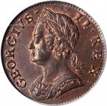 Great Britain. 1749 Halfpenny. Spink-3719, KM-579.2. MS-65 BN (PCGS).