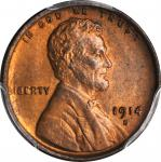1914-D Lincoln Cent. MS-64 RB (PCGS). CAC.