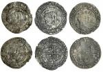 Edward VI (1547-53), coinage in the name of Henry VIII, Groats (3), all Tower mint, 2.22g, m.m. arro
