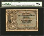 GERMAN EAST AFRICA. Deutsch-Ostafrikanische Bank. 50 Rupien, 1905. P-3b. PMG Very Fine 25.