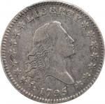 1795 Flowing Hair Half Dollar. O-105, T-25. Rarity-3+. Two Leaves. VF-20 (PCGS).