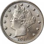 1910 Liberty Head Nickel. MS-67 (PCGS).