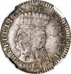 COLOMBIA. Real, 1821-BA JF. NGC AU-50.