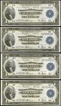 1918年1美元联邦储备银行票据 近未流通