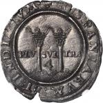 MEXICO. Carlos & Johanna, Late Series. 4 Reales, ND (ca. 1542-55). Assayer A (M-A). NGC MS-61.