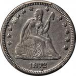 1872-CC Liberty Seated Quarter. Briggs 1-A, the only known dies. VF Details--Plugged (PCGS).