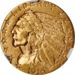 1916-S Indian Half Eagle. AU-55 (NGC).