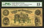 CANADA. Bank of Toronto. 5 Dollars, 1890. CH #715-22-02a. PMG Choice Fine 15.