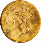 1862 Gold Dollar. MS-65 (NGC). CAC. OH.