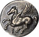CORINTHIA. Corinth. AR Drachm (2.49 gms), c.350-280-BC. NGC EF 40, Strike: 4/5 Surface: 4/5.