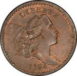 1794 Liberty Cap Half Cent. Cohen-9. Rarity-2. High-Relief Head. Mint State-66 RB (PCGS).