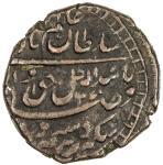 AWADH: Wajid Ali Shah, 1847-1856, AE frac14 falus 403。00g41, Lucknow, AH1270 year 8, KM-347, struck