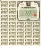 United States of America. March 15, 1935. $50 2-7/8% Treasury Bond of 1955-1960. Issued. Extremely F