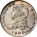 1809 Capped Bust Dime. JR-1, the only known dies. Rarity-3+. MS-63 (PCGS).