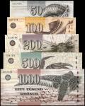 FAEROE ISLANDS. Faeroe Islands Government. 50 to 1000 Kronur, 2001-05. P-24 to 48. About Uncirculate
