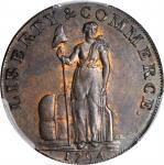 1794 Talbot, Allum & Lee Cent / Promissory Halfpenny Mule. Fuld Mule-2, W-8690. Rarity-6. Copper. LO