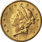 1873-S Liberty Head Double Eagle. Close 3. MS-62 (PCGS).