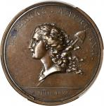 1781 (1782) Libertas Americana Medal. Bronze. 47 mm. By Augustin Dupré. Betts-615, Adams and Bentley