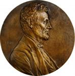 1909 Abraham Lincoln Centennial Plaque. Cast bronze. 165 mm. By V. D. Brenner. Cunningham 24-280. Ab