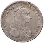 Italian coins;NAPOLI Carlo di Borbone (1734-1759) Mezza piastra 1754 - Magliocca 155 AG (g 12.50) Fr
