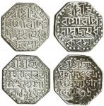 Assam, Rudra Simha (1696-1714), octagonal Rupees (2), 11.24, 11.34g, Sk. 1625, 1636, legends as prev
