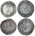 Elizabeth I (1558-1603), sixth issue, Shillings (2), 6.00g, m.m. bell, elizab d g ang fr et hib regi