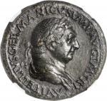 VITELLIUS, A.D. 69. AE Sestertius (26.33 gms), Rome Mint. NGC Ch EF, Strike: 5/5 Surface: 2/5. Fine