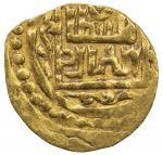 SUFID: Husayn, 1361-1372, AV fractional dinar (1.15g), Khwarizm, ND, A-2063, F/D—, al-sultan al-adil