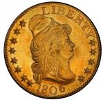1806 Capped Bust Right Half Eagle. Bass Dannreuther-1. Rarity-4. Pointed 6, Stars 8 x 5. Mint State-