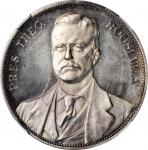 1904 Louisiana Purchase Exposition. President Roosevelt Dollar. Silver. 38 mm. HK-308. Rarity-7. Pro