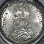 GREAT BRITAIN Victoria ヴィクトリア(1837~1901) Crown 1889 PCGS-MS63 UNC
