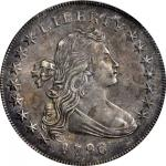 1796 Draped Bust Silver Dollar. BB-61, B-4. Rarity-3. Small Date, Large Letters. AU-53 (PCGS). OGH.
