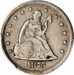 1875-S Twenty-Cent Piece. VF-25 (PCGS).