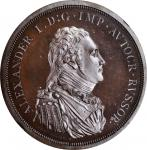 RUSSIA. Copper Ruble Pattern, 1804. Soho (Birmingham) Mint. Alexander I. NGC PROOF-64 Brown Cameo.