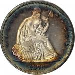 1876 Liberty Seated Half Dollar. Proof-65 Cameo (PCGS). CAC.