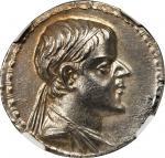 BAKTRIA. Kingdom of Baktria. Eucratides I, ca. 170-145 B.C. AR Tetradrachm (16.90 gms). NGC MS, Stri