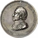 1849 Zachary Taylor Indian Peace Medal. Silver. First Size. Julian IP-27. Prucha-47. Choice Extremel