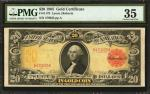 Fr. 1179. 1905 $20 Gold Certificate. PMG Choice Very Fine 35.