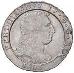 Italian coins;NAPOLI Ferdinando IV (1759-1816) Piastra 1805 - Magliocca 392 AG (g 27.36) Mancanza di
