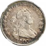 1803 Draped Bust Half Dollar. O-101, T-1. Rarity-3. Large 3, Small Reverse Stars. EF-40 (NGC).