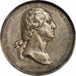 1776 Washington Before Boston Medal. Silver. 68 mm. Paris Mint Restrike. Musante GW-09-P4, Baker-48F