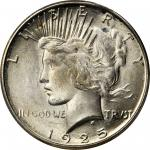 1925-S Peace Silver Dollar. MS-65 (PCGS).