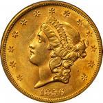 1856-S Liberty Head Double Eagle. MS-62 (PCGS).