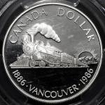 CANADA カナダ Dollar 1986 PCGS-PR69 DCAM Proof