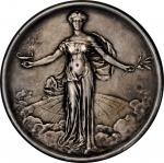 1915 Century of Peace Between the United States and Great Britain Medal. Silver. 64.2 mm. 125.9 gram