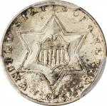 1855 Silver Three-Cent Piece. MS-65 (PCGS).