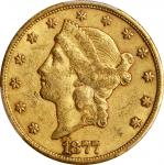 1877-CC Liberty Head Double Eagle. EF-45 (PCGS). CAC.