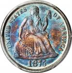 1875 Liberty Seated Dime. MS-67 (PCGS).