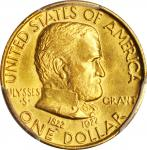 1922 Grant Memorial Gold Dollar. No Star. AU-58 (PCGS).
