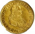 MEXICO. 8 Escudos, 1757-Mo MM. Mexico City Mint. Ferdinand VI. NGC AU-55.